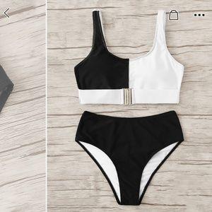 Black and White high waist bikini brand new